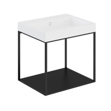 Cosmic The Grid Evo Washbasin+lower Unit with Fixed Shelf 59.6cm