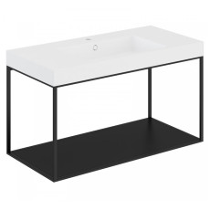 Cosmic The Grid Evo Washbasin+lower Unit with Fixed Shelf 99.6cm
