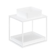 Cosmic The Grid Evo Square Washbasin+white Countertop+lower Unit with Sliding Shelf 62.5cm