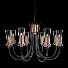 Italamp chandelier with arms Licio 8 luci G9 Ø 72 cm, dimmable