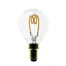 Bulb Vintage LED Filament Curved Sfera 2W E14 2200K 220/240V Ø 4.5 cm clear dimmable DLItalia