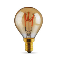 Bulb Vintage LED Filament Curved Sfera 3W E14 2000K 220/240V Ø 4.5 cm gold dimmable DLItalia