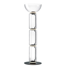 Flos Noctambule floor lamp 3 High Cylinders Bowl Big Base H Module 53 cm LED 54 W H 190 cm