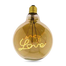 Bulb Vintage LED Filament Curved G125 Love 5W E27 2000K 220/240V Ø 12.5 cm gold dimmable DLItalia