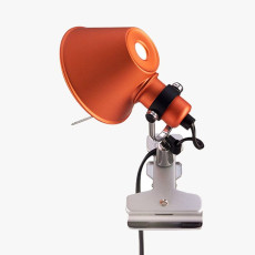 Artemide Tolomeo Micro Pinza Clamp Lamp 1 Light 46W H 20 cm Halo Orange