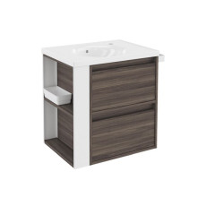 Bath + By Cosmic B-Smart Cabinet with 2-drawer ceramic washbasin Ash L 61 cm