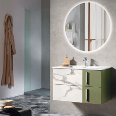 Bluelife Suspended Bathroom Composition Antea with sink and LED mirror L 82X47 cm