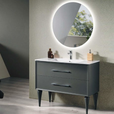 Bluelife Classic Floor Bathroom Composition with sink and LED mirror L 102x47 cm