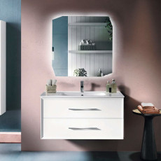 Bluelife Classic Suspended Bathroom Composition with sink and LED mirror L 102x47 cm