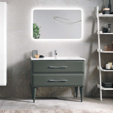 Bluelife Floor Bathroom Composition Cleide with sink and LED mirror L 102x47 cm