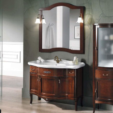 Bluelife Composition Bathroom from the Ground London 3 doors with sink, mirror and 2 wall lamps L 110x62 cm