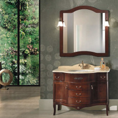 Bluelife London Floor Bathroom Composition with sink, mirror with 2 wall lights W 110x62 cm