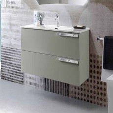 Modo Mobile with Malibù wall hung washbasin L 80x46 cm