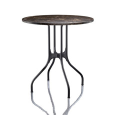 Magis Round Table Mila? ? 80cm Marquinia Marble Black