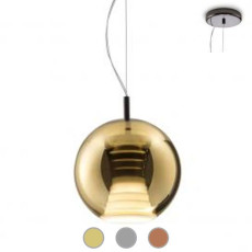 Fabbian Suspension lamp Beluga Royal Ø 20 cm LED 8,7W dimmable