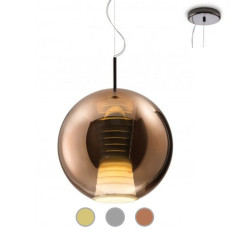 Fabbian Suspension lamp Beluga Royal Ø 30 cm LED 17W dimmable