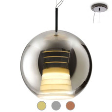 Fabbian Suspension lamp Beluga Royal Ø 40 cm LED 17W dimmable