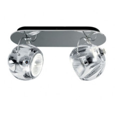 Fabbian Wall/Ceiling lamp Beluga Colour Crystal GU10 2 Lights L 27 cm