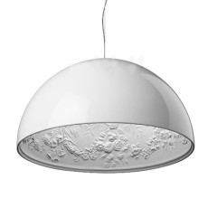 Flos Suspension lamp Skygarden 2 1 Light E27 Ø 90 cm White