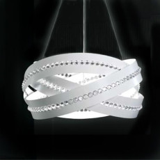 Marchetti Essentia Suspension Swarovski Crystals Ø 60 cm 8 Lights G9 White