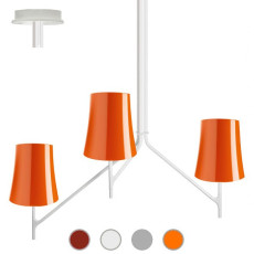 Foscarini Ceiling lamp Birdie 3 3 lights E27 L 53 cm