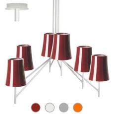 Foscarini Ceiling lamp Birdie 6 6 lights E27 L 59 cm