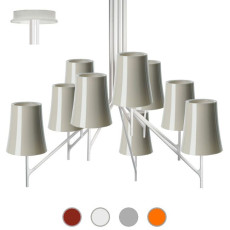Foscarini Ceiling lamp Birdie 9 9 lights E27 L 88 cm