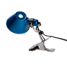 Artemide Tolomeo Micro Pinza Clamp Lamp 1 Light 46W H 20 cm Halo Blue
