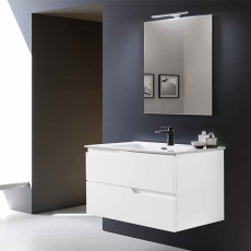 Modo Bathroom Composition Suspended Bora with sink and LED mirror L 100x46 cm