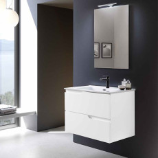 Modo Bathroom Composition Suspended Bora with sink and LED mirror L 80x46 cm