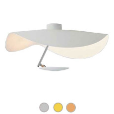 Catellani & Smith Ceiling lamp Lederam Manta CWS1 LED 17W Ø 60 cm