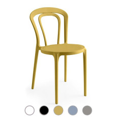 Connubia by Calligaris Stackable Chairs Caffè L 43cm