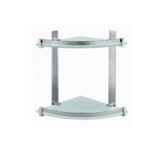 Gedy G.Cloud Hanging shower rack - anodized aluminium, tempered glass