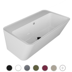 Colavene Wynn ceramic washbasin with 70x40xh25 cm deep bathtub