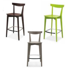 Connubia Calligaris 2 stools Evergreen Wood Different Colors