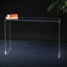 Vesta Simply Console in clear colorless acrylic crystal W 114.5 cm