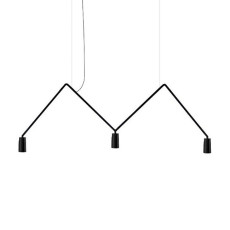 Nemo Suspension lamp Dabliu LED 3x5W L 130 cm