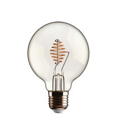 Bulb Beauty Eddy Led Globo 2.5W E27 2700 K 220/240 V 12.5x17.5 cm Transparent Dimmable DLItalia