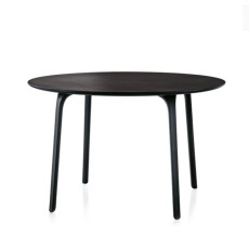 Magis round Table First Ø 120 cm black HPL plan, also for outdoor use