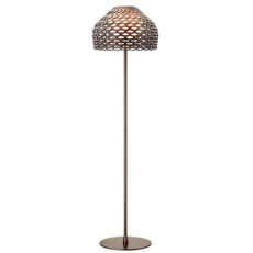 Flos Floor Lamp Tatou F 1 Light E27 H 180 cm Grey Ochre