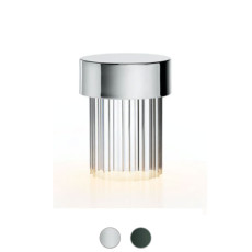 Flos Rechargeable outdoor table lamp Last Order Fluted LED H 14,2 cm dimmable