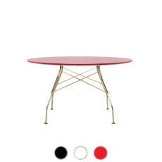 Kartell Table Glossy Golden 130x72cm MDF top