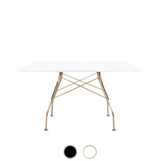 Kartell Table Glossy Golden H 118x72cm marble effect stoneware top
