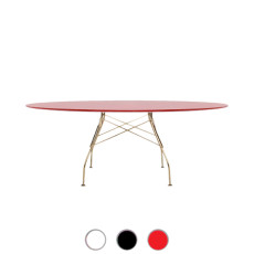 Kartell Table Glossy Golden 194x72cm MDF top