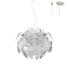 Luceplan Suspension lamp with Decentralisation Hope 1 Light E27 Ø72 cm