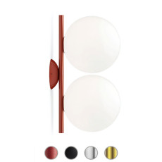Flos Wall/Ceiling Light IC Lights C/W1 Double 2 Lights E27 L 42 cm
