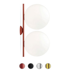 Flos Wall/Ceiling Light IC Lights C/W2 Double 2 Lights E27 L 62 cm