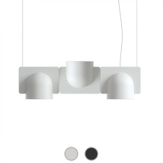 Fontana Arte Pendant lamp Igloo 3 Down/Up LED 30W L 66 cm