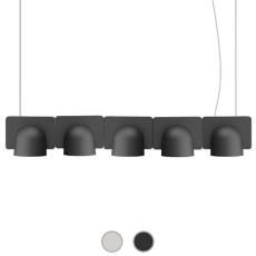 Fontana Arte Pendant lamp Igloo 5 Down LED 50W L 110 cm