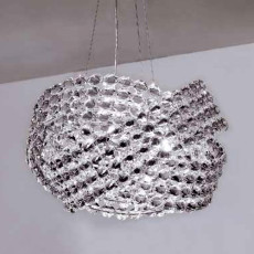 Marchetti Crystal Suspension Lamp Diamante Ø 200 cm 24 lights G9